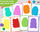 MONSTER FACTORY! Roll or Spin A Monster PRINT & PLAY Game / Play Dough Mats