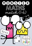 MONSTER MATCH MATHS GAME BOARDS (NUMBERS 1-6)