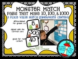 MONSTER MATCH place value addition math game / center Common Core aligned K-4