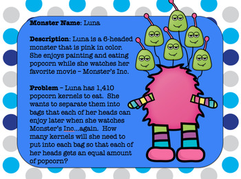 MONSTER MATH: Long Division Word Problems