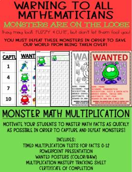MONSTER MATH (Multiplication Facts 0-12)
