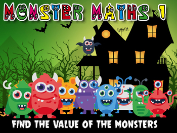 MONSTER MATHS 1 - LOGIC PUZZLES - ADDITION SUBTRACTION MULTIPLICATION DIVISION