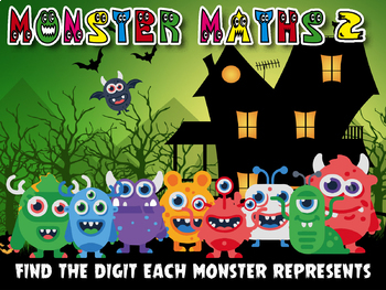 MONSTER MATHS 2 - LOGIC/REASONING PUZZLES - ADDITION SUBTRACTION MULTIPLICATION