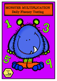 MONSTER MULTIPLICATION FACTS - DAILY TIMESTABLE FLUENCY