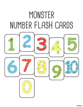MONSTER NUMBER FLASH CARDS (0-10)