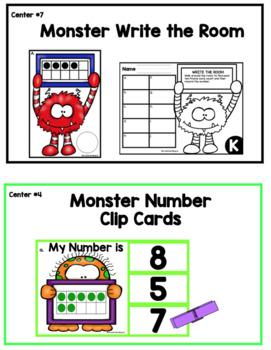 MONSTER NUMBER SENSE ~ Back to School~ Kindergarten