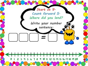 Monster Number Lines - Addition and Subtraction Practise