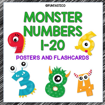 MONSTER NUMBERS IN SPANISH 1-20