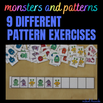 MONSTER PATTERNS - MATH BUSY BAG