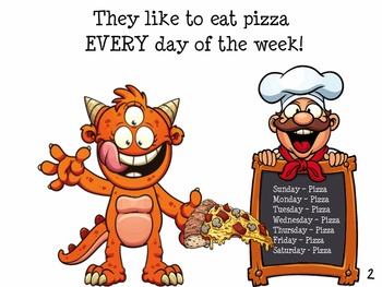 MONSTER PIZZA with bonus POSTER Early Reader Speech Therapy