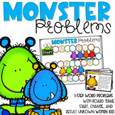 MONSTER PROBLEMS! 2-Digit Word Problems Within 100
