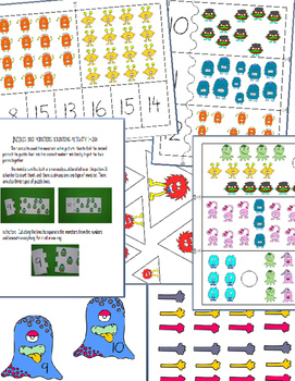 MONSTER SCHOOL - MATH CENTER PRINTABLES (5 ACTIVITIES)