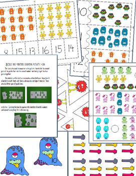 MONSTER SCHOOL - MATH CENTER PRINTABLES (5 ACTIVITIES)