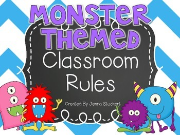 MONSTER THEMED Classroom Rules