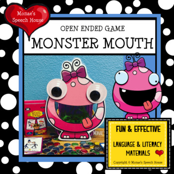 MONSTER TIC TAC TOE Speech Therapy GAME BOARDS
