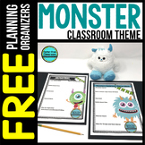 MONSTER Theme Decor Planner by Clutter Free Classroom