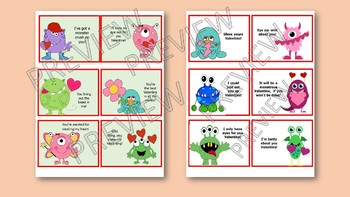 MONSTER Theme VALENTINES ! Cards to print, sign, cut and pass out.
