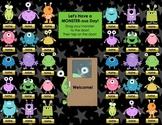 """MONSTER-ous Day"" (Monster, Alien, Space) SMART Board Atte"
