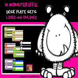 MONSTERS and THEME NAME PLATES  and WORD WALL SET