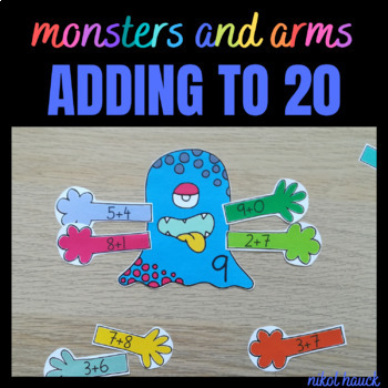 MONSTERS AND ARMS FUN ADDING ACTIVITY (0-20) MATH BUSY BAG