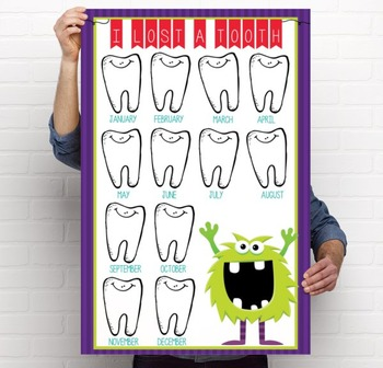 MONSTERS - Classroom Decor: I lost a TOOTH - size 24 x 36