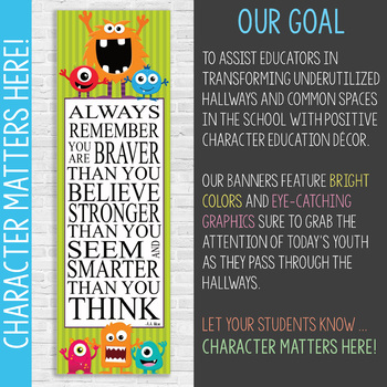 MONSTERS - Classroom Decor: X-LARGE BANNER, Always Remember