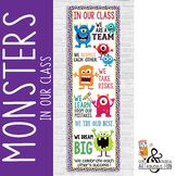 MONSTERS - Classroom Decor: X-LARGE BANNER, In Our Class...