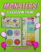 Back to School - MONSTERS CLASSROOM THEME - COMIC STYLE