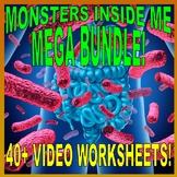 MONSTERS INSIDE ME : MEGA BUNDLE (30 Biology Video Worksheets / Free Updates)