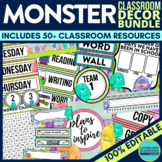 MONSTER THEMED Classroom Decor EDITABLE