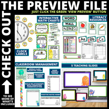 MONSTER THEMED Classroom Decor EDITABLE