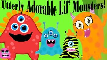 MONSTER CLIPART - Utterly Adorable Lil' Monsters!