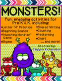 MONSTERS! Fun, Engaging Activities for Pre-K & K