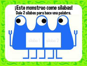 MONSTRUOS DE SILABAS Workstation - Spanish