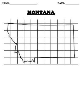 MONTANA Coordinate Grid Map Blank