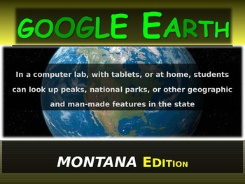 """""""MONTANA"""" GOOGLE EARTH Engaging Geography Assignment (PPT"""