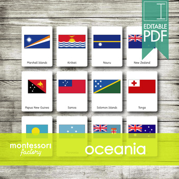 AUSTRALIA Flags | Montessori Nomenclature Cards | Flash Cards | 3 Part Cards