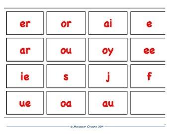 MONTESSORI LANGUAGE PHONOGRAM CARDS
