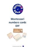 MONTESSORI NUMBERS CARDS DIY