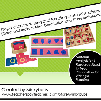 MONTESSORI Preparation for Writing and Reading Material Analysis