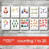 CHRISTMAS   MONTESSORI Printable Counting Clip Cards