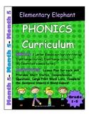 PHONICS-MONTH 5--Elementary Elephant Curriculum-Interventi