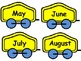 FREEBIE MONTHS TRAIN DISPLAY (flashcards) + GAME