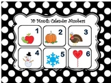 MONTHLY CALENDAR NUMBERS