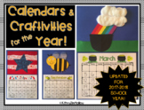 MONTHLY READING CALENDAR WITH CRAFTIVITES - EDITABLE