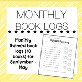MONTHLY Themed Book Logs