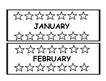 MONTHS OF THE YEAR LABELS PACK