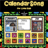 """""""CALENDAR"""" SONG for little kids: includes monthly posters and a science activity"""