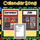 """CALENDAR"" SONG for little kids: includes monthly posters and a science activity"