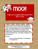 MOO!! ~ First 100 Fry words sight word game